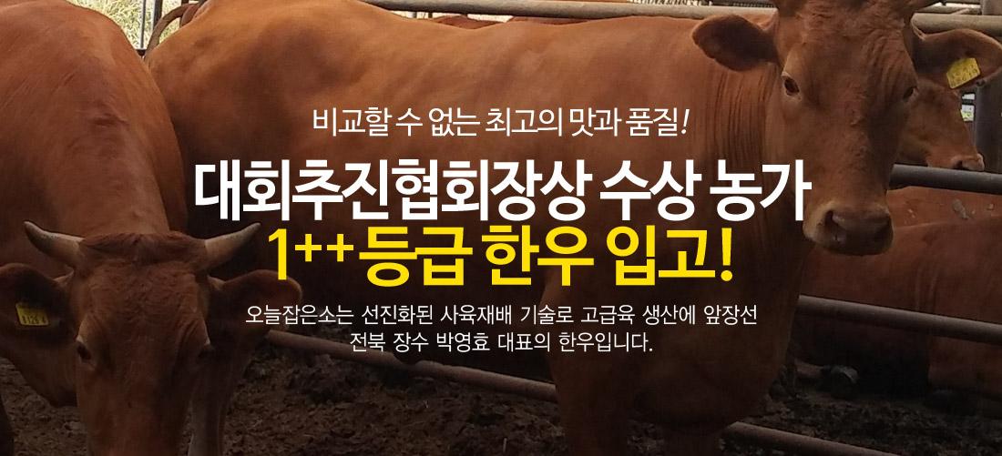 대회추진협회장상 수상 전북장수 1++등급 한우
