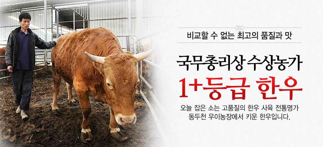 국무총리상 수상 동두천 우이농장 1+등급 한우